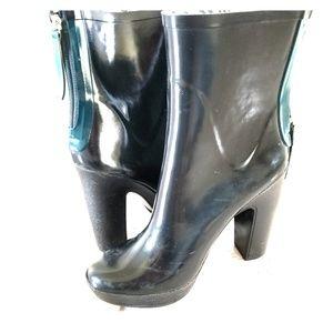Zara Block Heel Rain Boots